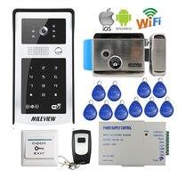 Бесплатная доставка RFID код клавиатуры Wi Fi 720 P видео домофон открытый звонок для Android IOS Телефон + Электрический управление замок
