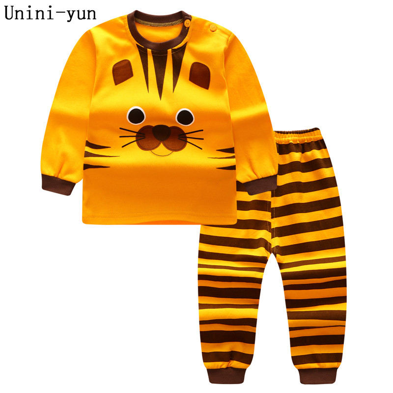 2017 new autumn Children baby boys girls clothing sets tracksuit 2PCS cotton sport suit cartoon t-shirt+pants kids clothes sets