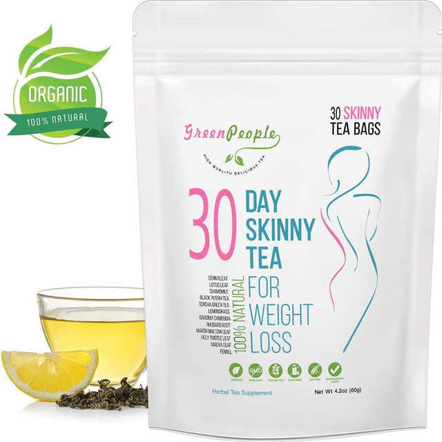 30 Days Natural Slimming Tea Diet Detox Tea Appetite Suppressant for Weight Loss 100% Natural Body Cleanse for Women and Men