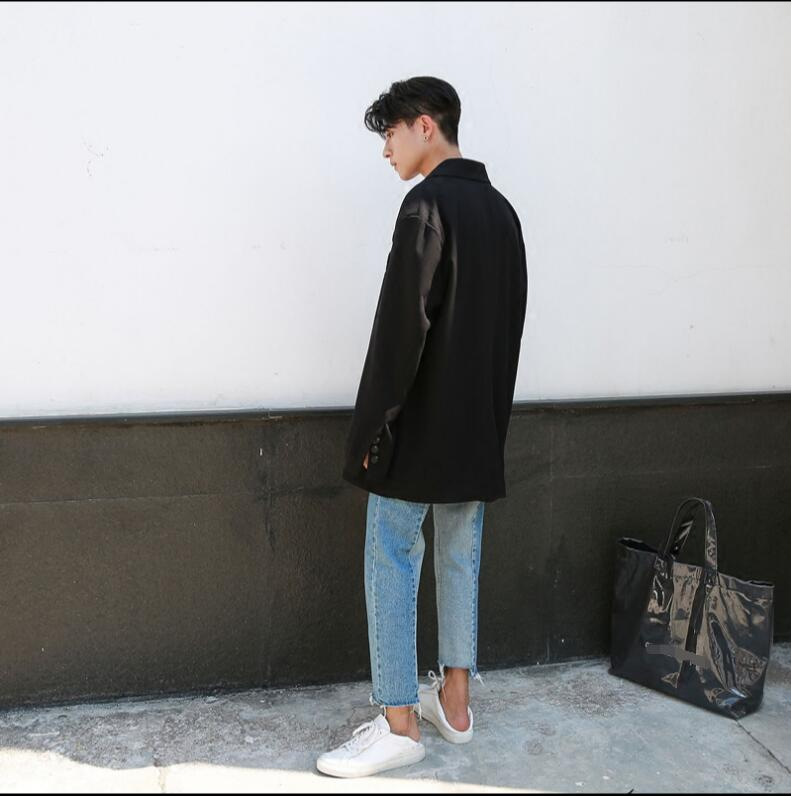 Made Korean version of the jeans men and young summer loose straight nine-cent edge pants. 4