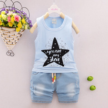 2017 Special Offer Real 2pcs/set Summer Newborn Clothes Sets For 7-24m Kids Cotton Sleeveless T-shirt+pants Toddler Clothing