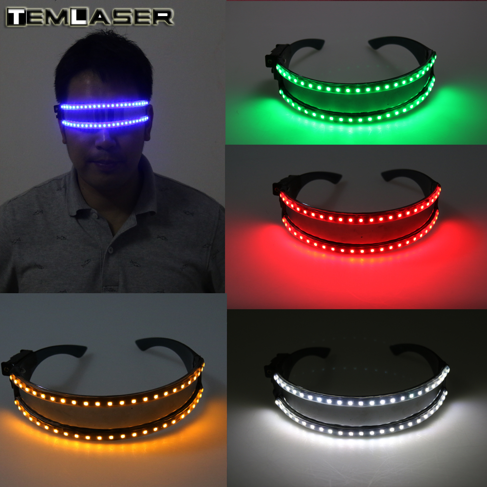 Free shipping LED Glasses, Laser Glasses For Nightclub Nerformers Party Dancing Glowing Spiderman Mask Glasses