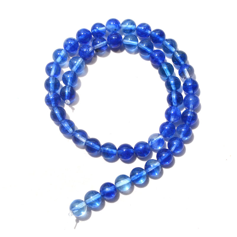 81b6fb5da0aa DIY joyería accesorio 8mm naturaleza piedra forma redonda zafiro cristal  azul color Cabochon