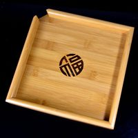 22 x 22 cm Big Natural Bamboo Puer Tea Tray TeaBoard For Showing Chinese Tea Ceremony Tools Accessories taste tea display