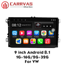 CARRVAS 9 inch Car Player Android 8.1 GPS Navigation Stereo For Golf Polo 1G+16G/2G+32G with RDS Bluetooth Wifi
