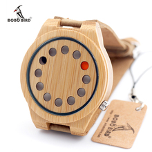 BOBO de AVES CbD08 Hombres Reloj De Madera 12 Agujeros Dial Diseño de Marca de Cuarzo Relojes para Hombres con la Caja de Regalo De Bambú Dropshipping