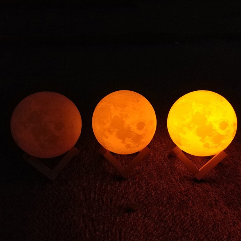 3D Print Moon Lamp Night Light Touch Sensor Switch Home Room Decor Children Kids Novelty Gifts Desktop Furnishing Drop Shipping