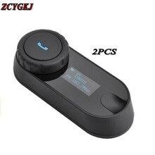 2 PCS Original FreedConn BT Interphone Bluetooth Capacete Da Motocicleta Intercom Headset com tela LCD + Rádio FM