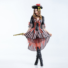 Classic Pirate Costume Fantasias Feminina Halloween Costumes for Women Adult Fancy Dress Carnival Renaissance Cosplay Clothes