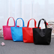 New Foldable Shopping Bag Reusable Tote Pouch Women Travel Storage Handbag Fashion Shoulder Bag Female Canvas Shopping Bags цены