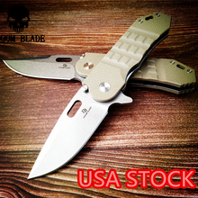 200mm 100% D2 Blade Ball Bearing Knives G10 Handle Folding Knife Survival Camping Tool Hunting Pocket Knife Tactical Edc Outdoor brand d2 blade all steel nc handle bearing folding knife outdoor camping survival tool hunting tactical edc knives
