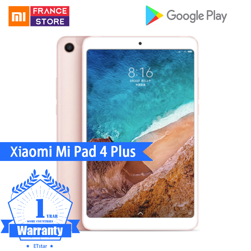 "Original Xiaomi Mi Pad 4 Plus PC Tablet 10.1"" Snapdragon 660 Octa Core Face ID 1920x1200 13.0MP+5.0MP 4G Tablets Android MiPad 4(Hong Kong,China)"
