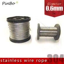 50 м 304 проволочный Канат из нержавеющей стали alambre кабель мягче рыболовный подъемный кабель 7X7 структура 0,6 мм Диаметр
