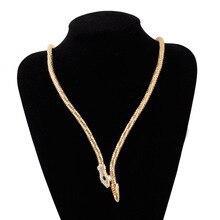 Schlange Halskette Personality Rhinestone Preis Crystal Snake Lange Form Statement jewelry chocker chain