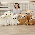 1pcs New Crazy Animal City Cute sloth Plush Toys Baby birthday gift The Anime Movie Sloth Flash Stuffed Animals Plush Dolls