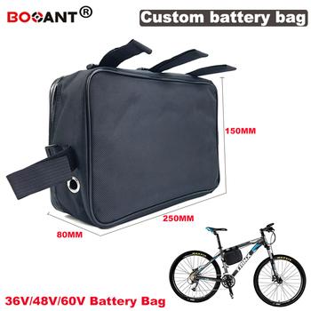 24V 36V 48V 60V e-bike bateria litowa płócienna torba 24V 36V bateria litowa płócienna torba na akumulator do rowerów elektrycznych darmowa wysyłka tanie i dobre opinie BOOANT 10-20ah 48 v
