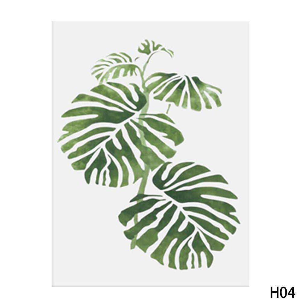 13x18 سنتيمتر أوراق نبات استوائي البسيط الفن قماش المشارك اللوحة الطبيعة جدار الصورة الحديثة غرفة مكتب ديكورات المنزل