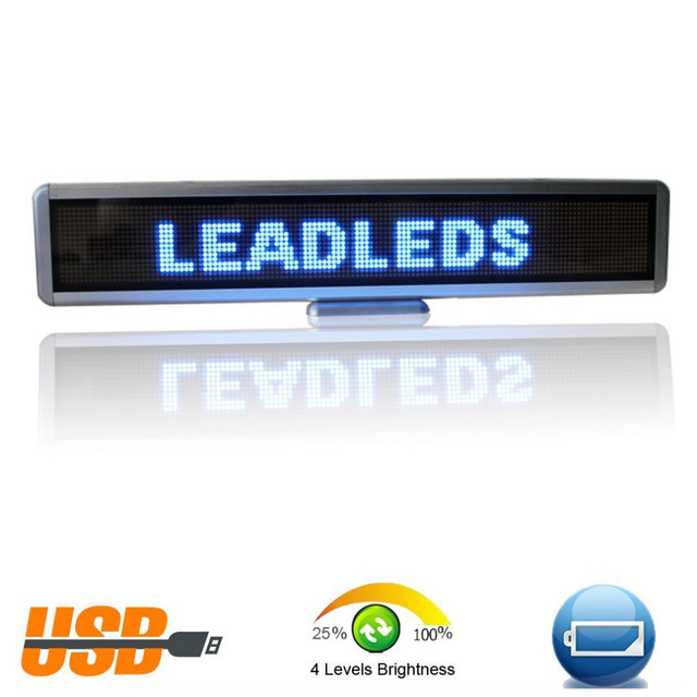 15.8inch LED Car Electronic display Sign, Display Multi-language By Usb Programmable Scrolling Text Message