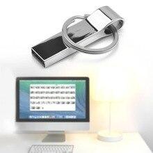 Keychain USB Flash Drive USB2.0 Pen Drive 8G 16G 32G External Storage Flash Memory U-disk Metal USB Stick For Laptop PC