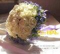 Красота Уникальный Стразами Бисером Свадебные Букеты 2016 Свадебные Букеты buque де noiva Моделирования Цветы