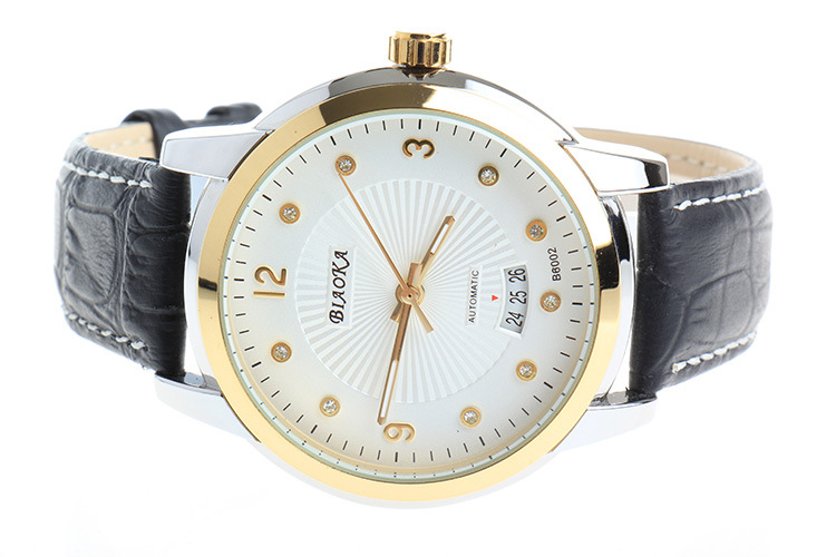 2016 NEWEST brand BIAOKA men s watch Date Display Male Clock New Big Dial gold Lens