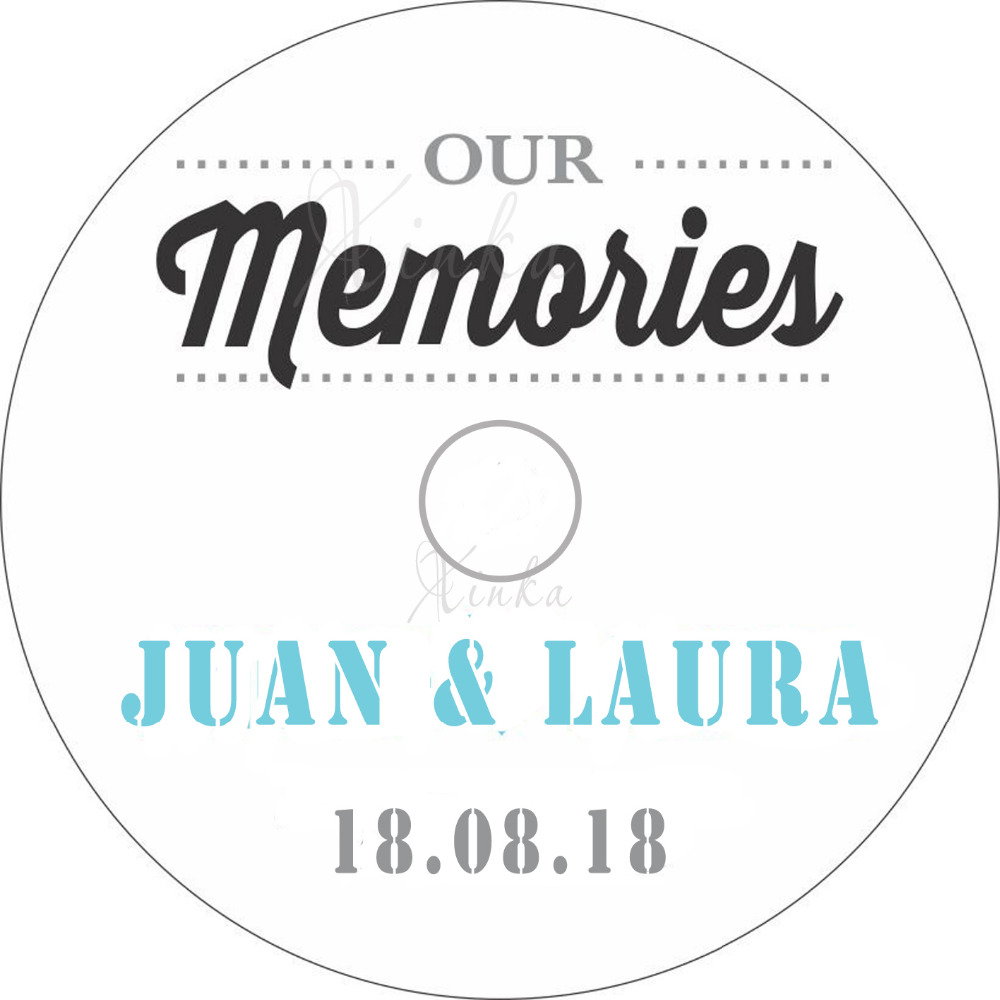 50 cd labels with customized personalized printing for wedding cd