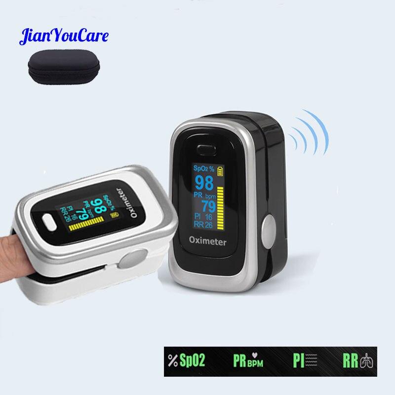 Pulse Fingertip Portable Oled Oximeter RR SPO2 PI Blood Oxygen Respiratory Rate Oximetro De Pulso Pulsioximetro Dedo With Case
