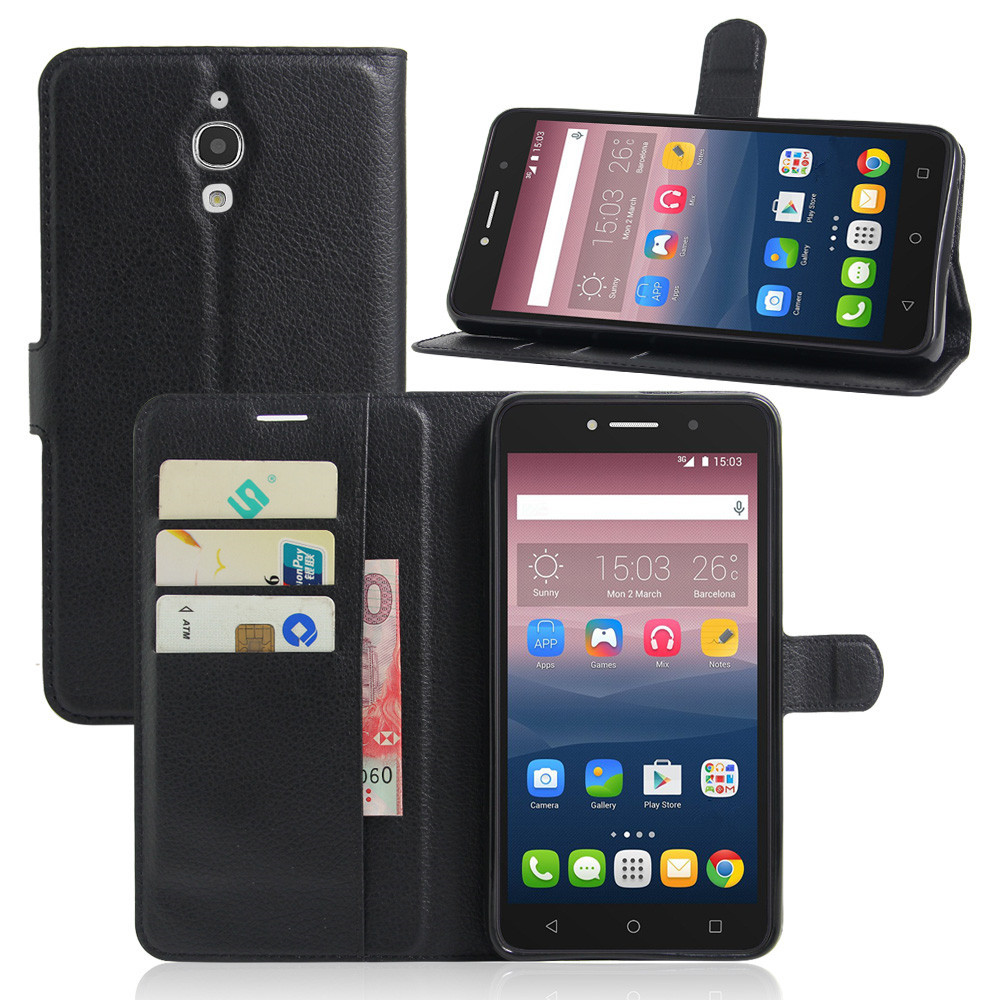 Leather Wallet Case for Alcatel Pixi 3 4 3.5 4.0 4.5 5.0 5.5 6.0 inch 3G 4G First X T POP Fierce XL Shine Lite A3 XL A5 U5 A30