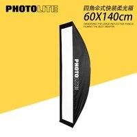 60*140 Cm Şemsiye Esnek softBox Taşınabilir Esnek softBox Stüdyo Dörtlü hızlı açık softbox|Softbox|   -