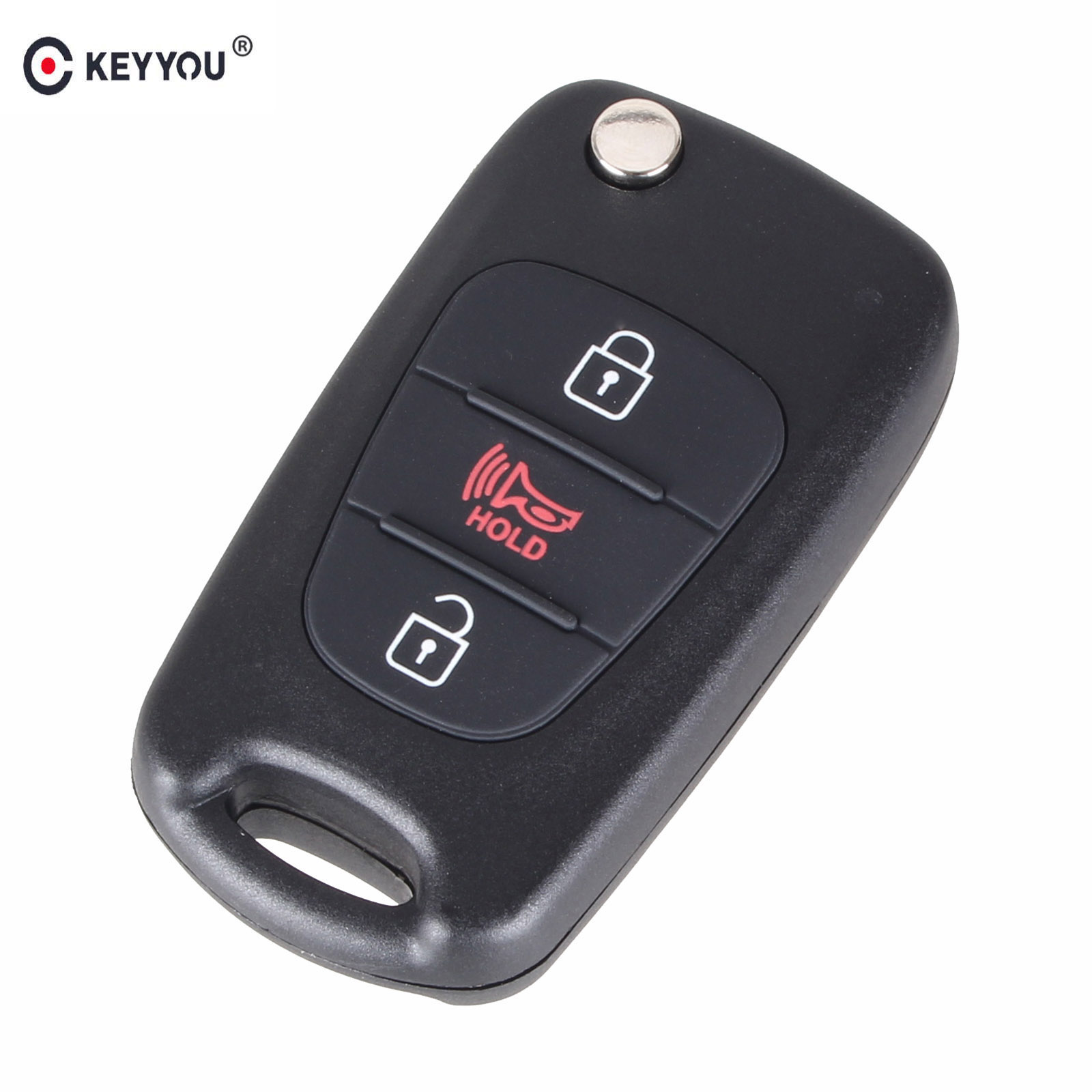 KEYYOU New 3 Buttons Flip Folding Remote Key Shell For HYUNDAI KIA SOUL Car Keys Blank Case Cover maizhi 3 button flip folding car key shell for hyundai avante i30 ix35 kia k2 k5 sorento sportage key cover case styling