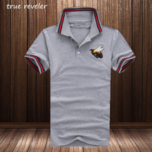 True reveler 2017 New Styles Bee men polo shirts short sleeve asian size M-4XL brand summer clothing fashion casual hip hop tops