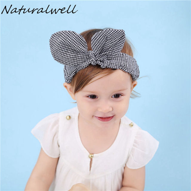 Naturalwell Baby big Bow Headband Kids Head Wraps Little girls Headwrap  Cotton Hair Bows Child Headbands turban top knot HB108 0bf9e4e2c24