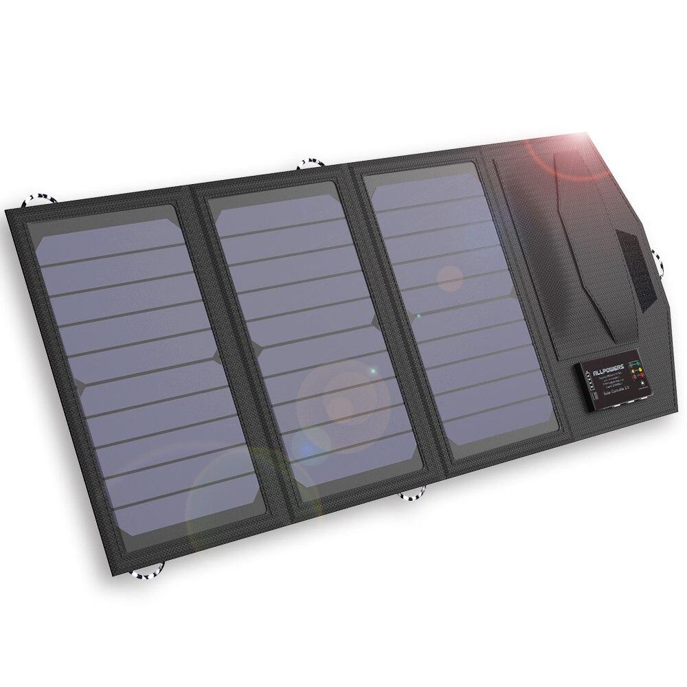 ALLPOWERS energía Solar Banco 15 W Solar Externla cargador de batería para el iPhone 4S 5 5S SE 6 6 s iPhone 7 8 10 X Samsung LG HTC Sony.