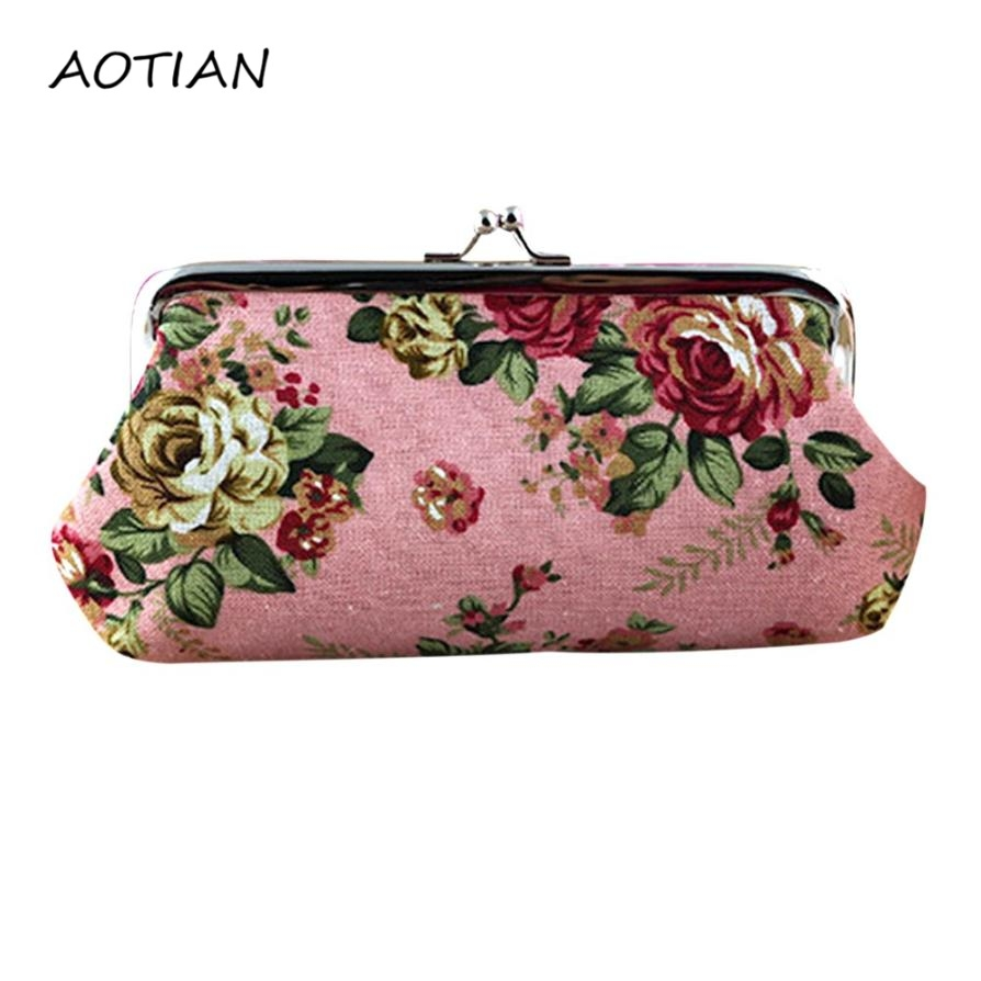 New brand Fashion Clutch Bag Women Lady Retro Vintage Flower Small Coin Purses Wallets Hot Card Holders bags Gift Dec21 new arrival women s sunglasses women anti reflective fashion vintage brand female retro sun glasses for lady oversize wholesale