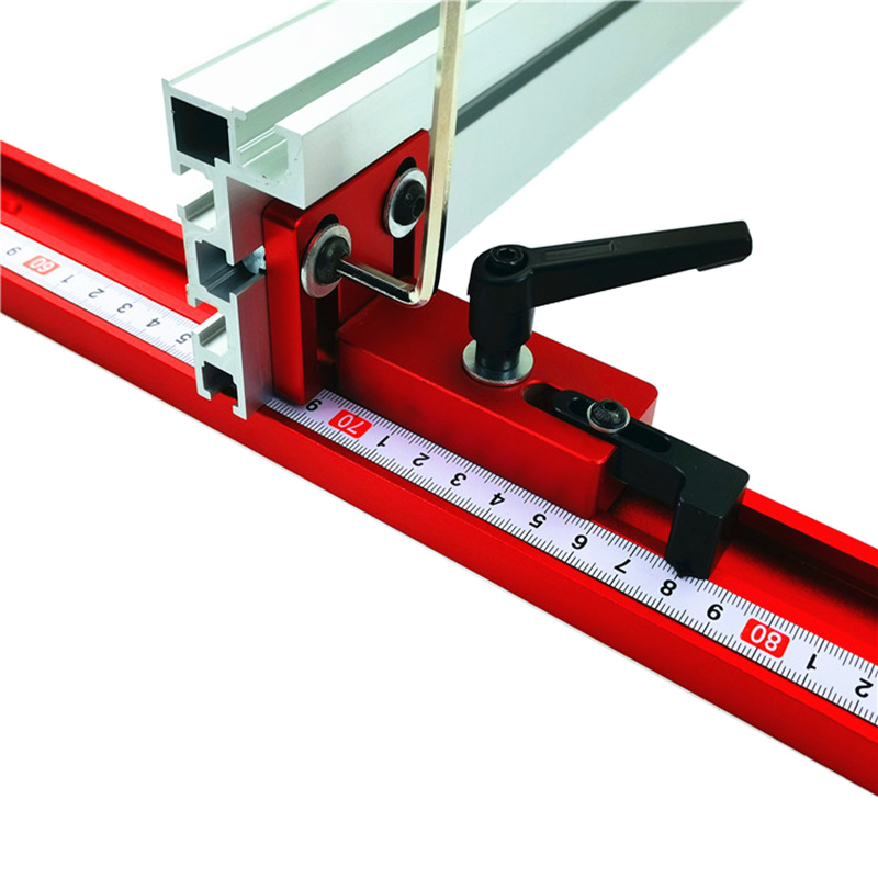 woodworking 45 type T tracks chute backing connector woodworking Miter rail chute connector 75mm height with T tracks Stop|Hand Tool Sets| |  - title=