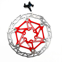 Free Shipping 1 PCS DH Bike Bicycle Brake Rotor Advanced Floating Float 160 Mm 6 Red