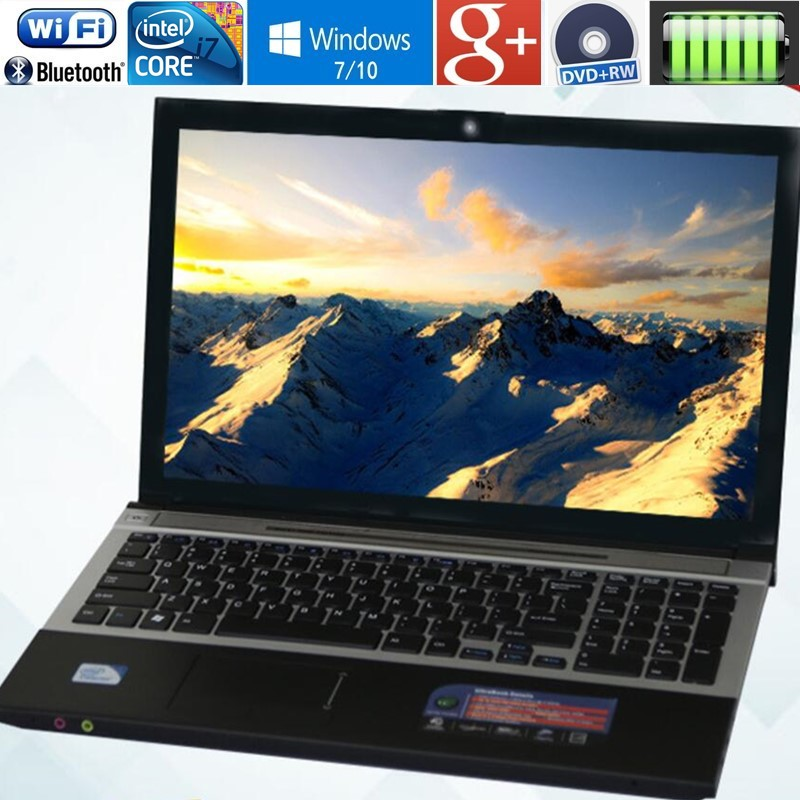8 gb RAM + 30 gb SSD et 320 gb HDD Intel Core i7 cpu Ordinateurs Portables 15.6 1920x1080 p HD Windows 10 Portable Avec DVD-RW Pour Home Office