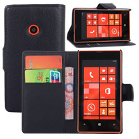 SZYHOME Phone Cases For Nokia Lumia 520 Luxury Retro Leather Wallet Flip Cover Solid Color Shell Capa Coque
