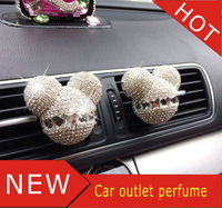 Free Shipping 2 PCS Car Perfume Of Tuyere High Grade Diamond Cartoon Mickey And Colorful Air