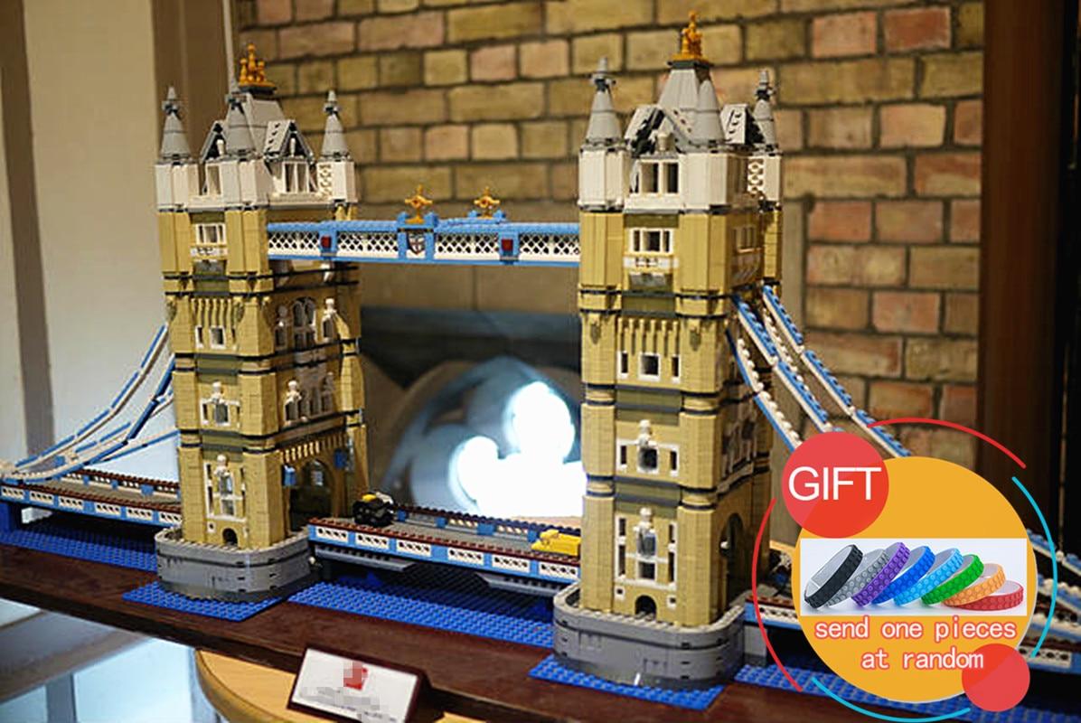 17004 4295pcs London bridge Model Building Kits Brick lepin DIY Toys Compatible 10214 Gifts lepin new lepin 22001 pirate ship imperial warships model building kits block briks toys gift 1717pcs