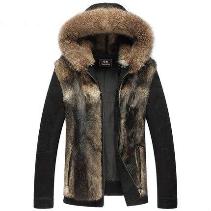 2015 nuevo lobo de peluche de piel de oveja importada de cuero de hombre 137