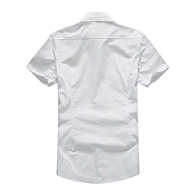 Модная повседневная мужская рубашка, летняя, Air Force One, рубашка с коротким рукавом, хлопковые рубашки, плюс размер, Азия, WA795