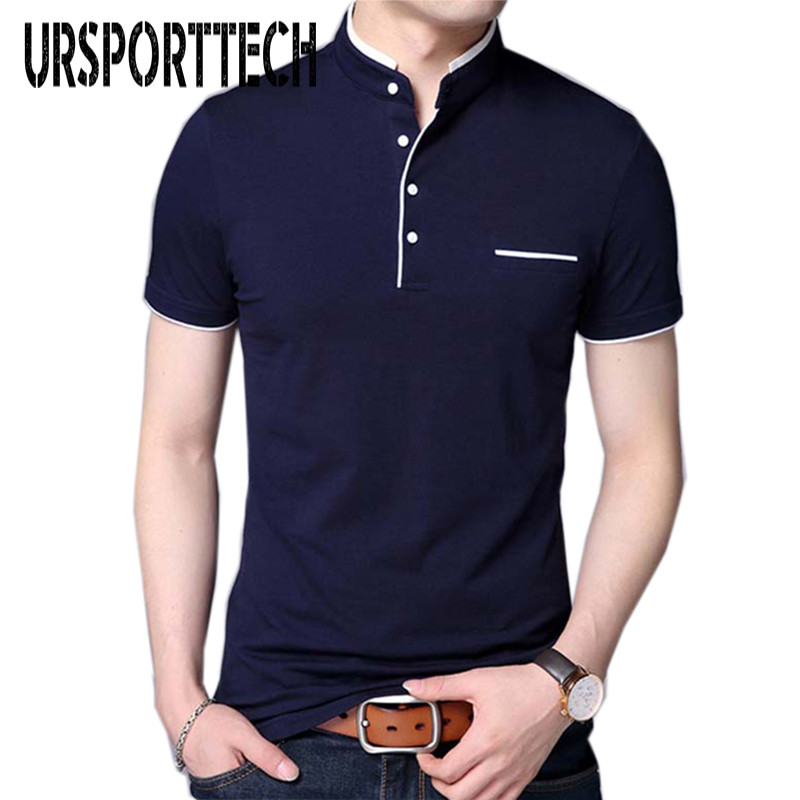 2019 New Arrival Men Polo Shirt Brands Male Short Sleeve Casual Slim Solid Color Men Polo Shirt Homme Summer Male Clothing M-4XL