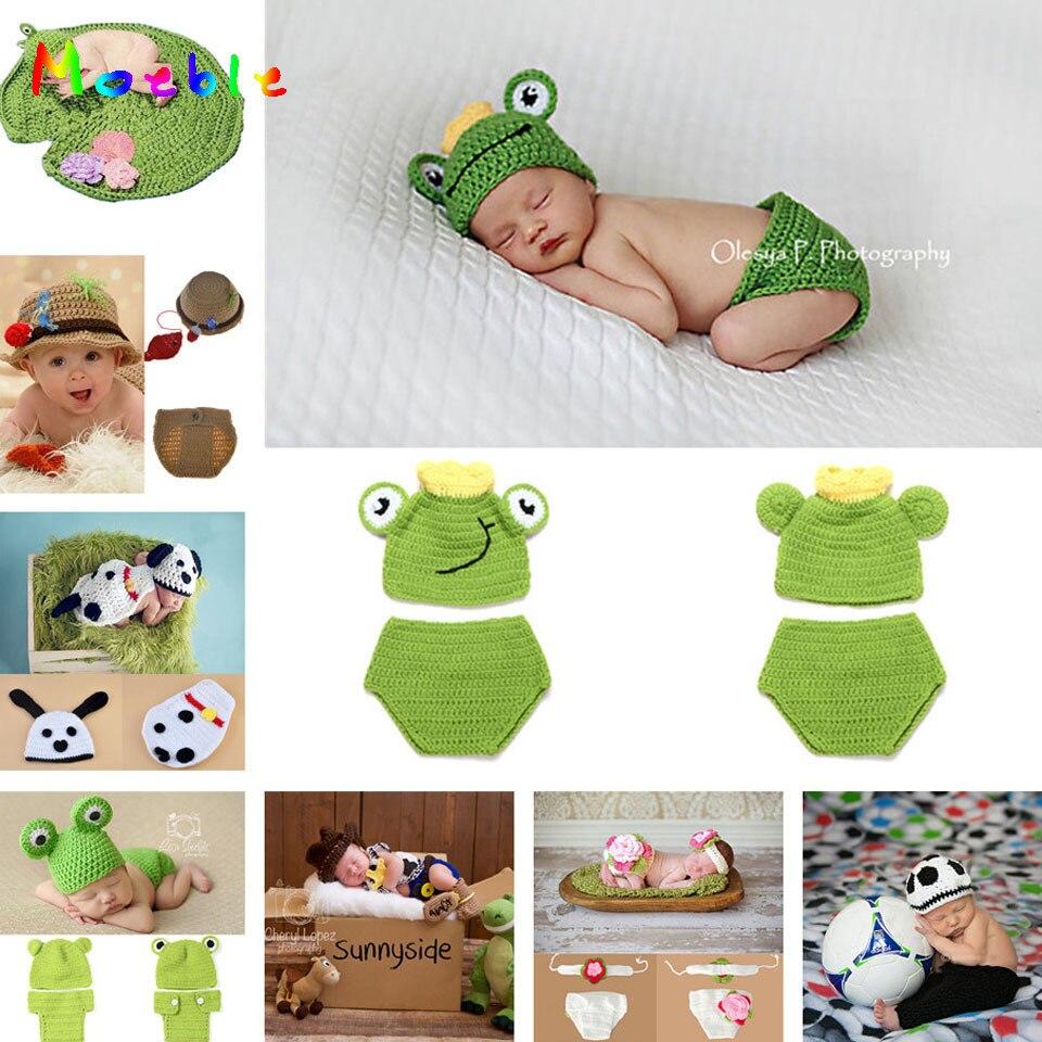 ღ ღMoeble diseño de la rana del ganchillo bebé sombrero pantalones ...