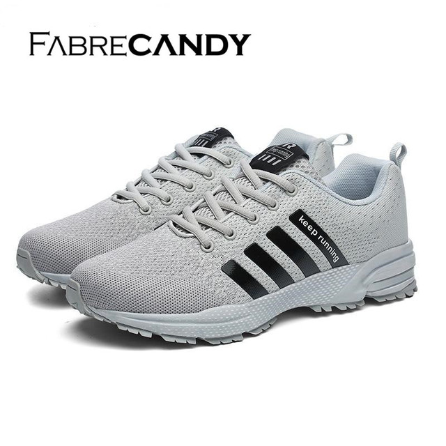 FABRECANDY High Quality Men Casual Shoes Autumn mesh lovers shoes Light weight Breathable Men shoes sneakers plus size 35-47