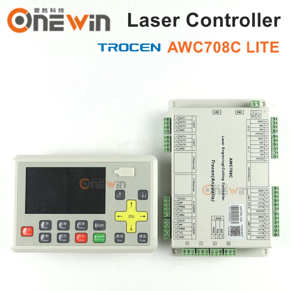Lasergraveerimismasina jaoks mõeldud Trocen AWC708C LITE Co2 laserkontroller asendab AWC608