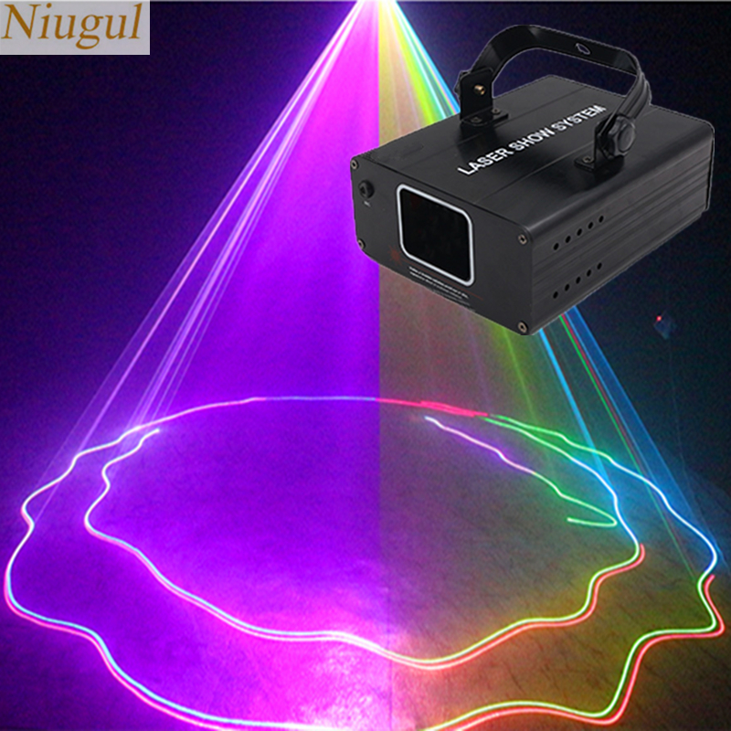 RGB Full Color Laser Home Stage Lighting Linear Beam Effect /DMX 512/Auto/Sound Control Laser Projector Disco Party DJ Lights