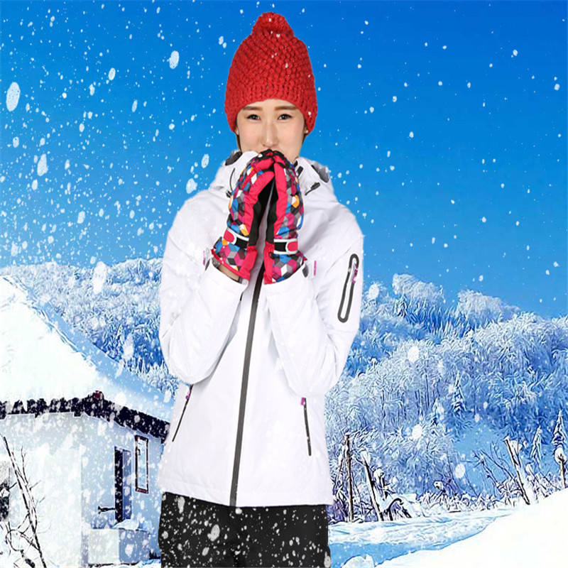 Prix pour Ski costume costume Corée Du Sud grand code unique et double conseil de ski costumes vêtements dame étanche étanche blanc ski vêtements marée