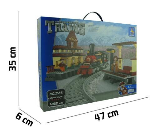 Ausini Model building kits compatible with lego transportation train 3D blocks Educational toys hobbies for children ausini model building kits compatible city train 426 3d blocks educational model