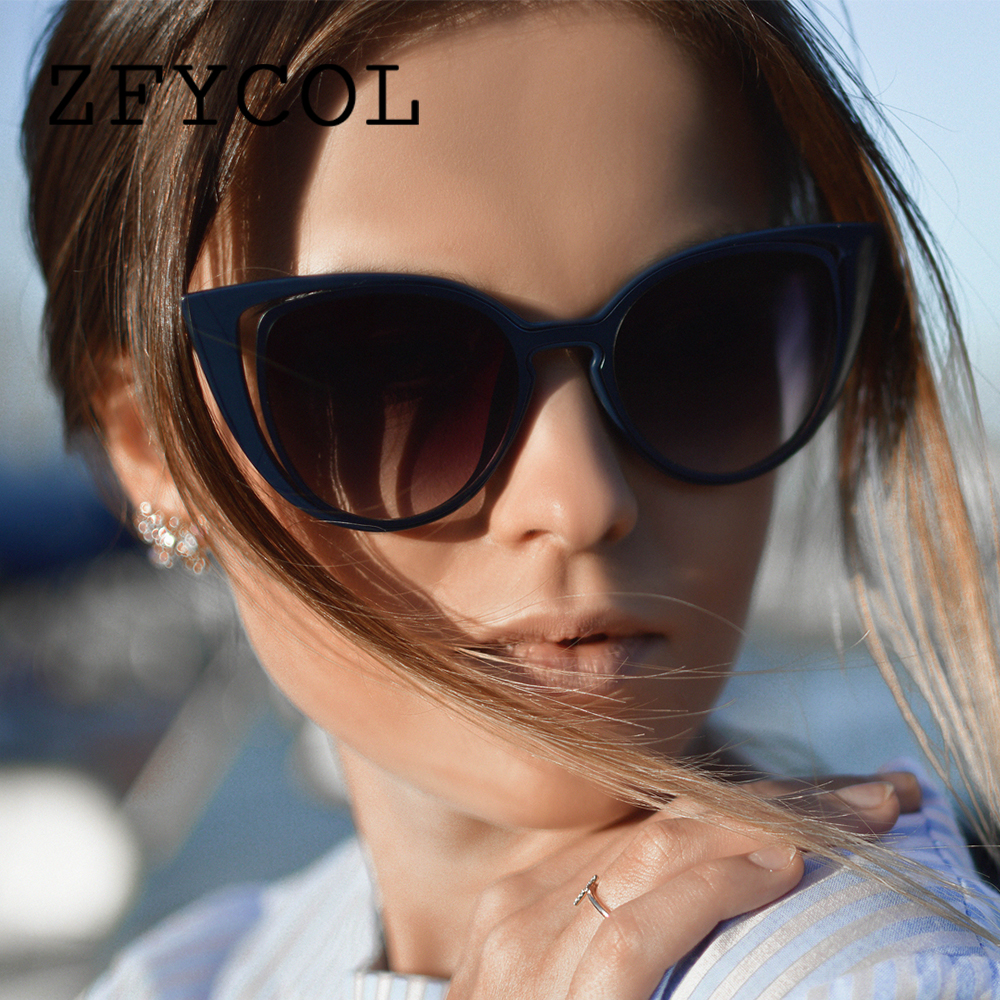 791675da7fb4 ZFYCOL Cat Eye Sunglasses Women Luxury Brand Designer Vintage Ladies Sun  glasses Pink Gradient Female Retro Eyewear